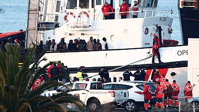 Open Arms rescue ship docks in Spanish port with 308 migrants on board