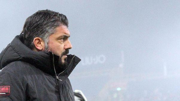 Milan: Gattuso, nessun ultimatum da club