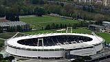 Vue aérienne du Stadium de Toulouse prise le 27 avril 2017