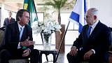 No embassy move announced as Brazil's Bolsonaro hosts Israel's Netanyahu