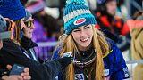 Alpine skiing - Shiffrin emotional over bittersweet slalom record