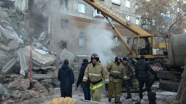 Russian apartment block blast kills three; rescuers search for survivors