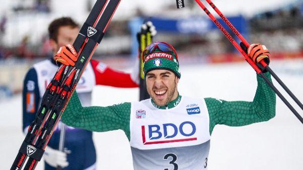 Sci nordico: Pellegrino primo podio 2019