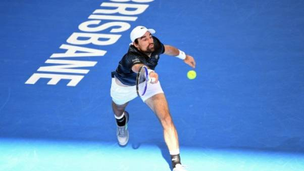 Tennis: Chardy s'offre le tenant du titre Kyrgios et atteint les quarts à Brisbane