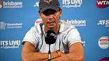 Tennis: légèrement blessé, Nadal déclare forfait à Brisbane