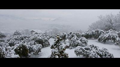 Nel Beneventano nevica a bassa quota