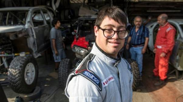 Le co-pilote péruvien Lucas Barron, 25 ans, à Lima, le 18 décembre 2018