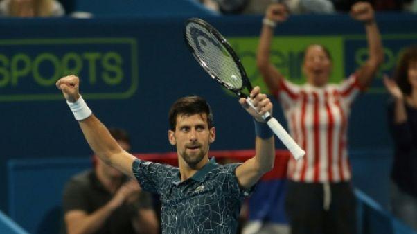 Tennis: le N.1 mondial Djokovic a encore souffert mais va en demi-finales à Doha
