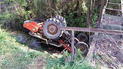 Agricoltore muore sotto trattore
