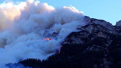 Focolai incendio su Altopiano Asiago