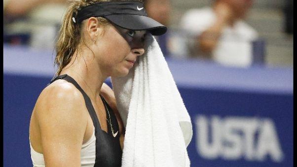 Shenzhen Open, Sharapova si ritira