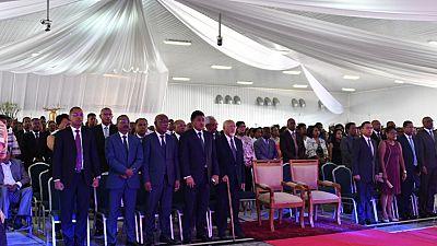 Présentation de vœux du personnel de la Présidence de la République, à Iavoloha