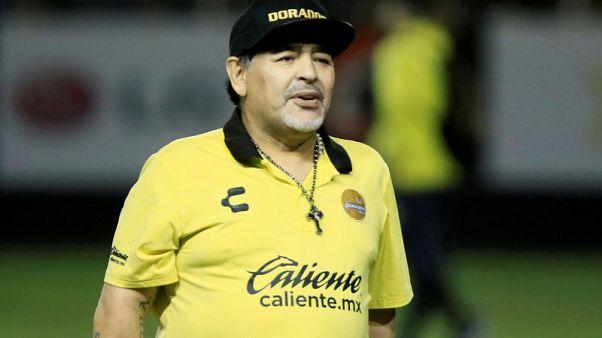 مارادونا يمدد بقائه مع نادي دورادوس المكسيكي