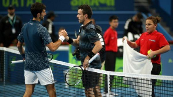 Tennis: Djokovic éliminé à Doha et remonté contre la presse