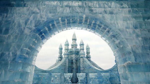 بدء فاعليات مهرجان الشتاء في مدينة هاربين شمال الصين