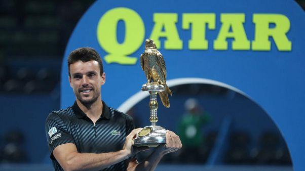 باوتيستا أجوت يحرز لقب بطولة قطر المفتوحة بفوز على برديتش