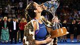 L'Allemande Julia Görges, gagnante du tournoi d'Auckland, le 6 janvier 2019
