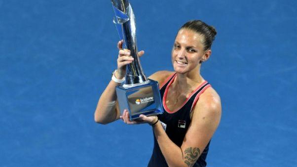Tennis: Pliskova renverse Tsurenko en finale à Brisbane