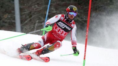Marcel Hirscher lors du slalom de de Zagreb, le 6 janvier 2019