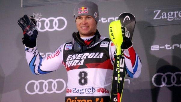 Le Français Alexis Pinturault 2e du slalom de Zagreb le 6 janvier 2019