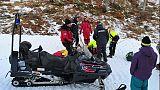 Bimba cade sugli sci, soccorsa da Cc