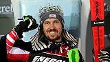 Marcel Hirscher lors de sa victoire au slalom de Zagreb, le 6 janvier 2019