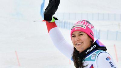 La Suissesse Wendy Holdener, à Saint Moritz, le 9 décembre 2018