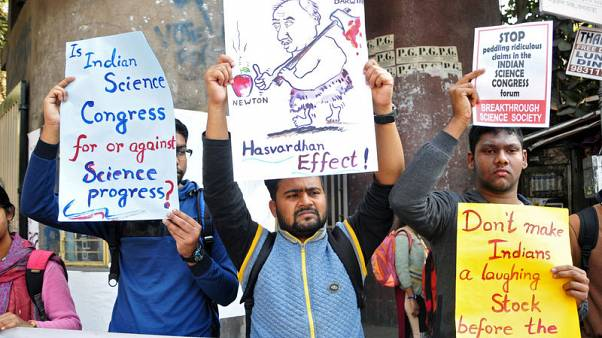 Indian scientists protest congress speakers discrediting works of Newton, Einstein