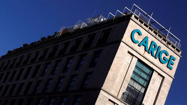 Carige says to tap state guarantee for bonds but state recapitalisation unlikely