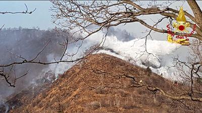 Rogo Varesotto: pompieri ancora a lavoro