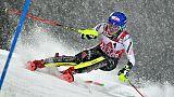 Ski: Shiffrin meilleur temps de la 1ere manche du slalom de Flachau