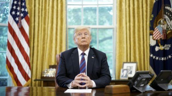 Le président américain Donald Trump dans le Bureau ovale le 27 août 2018