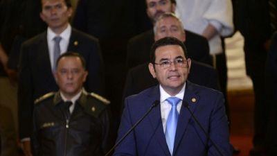 Le président du Guatemala Jimmy Morales, le 7 janvier 2019.