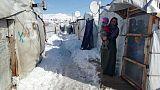 عواصف رعدية وأمطار غزيرة وثلوج تدمر خيام اللاجئين في لبنان