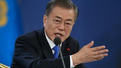 Le président sud-coréen Moon Jae-in, le 10 janvier 2019 à Séoul