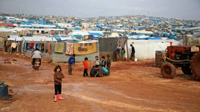 Un camp de déplacés dans la province syrienne d'Idleb, le 10 janvier 2019