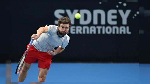 Gilles Simon lors du tournoi de Sydney, le 9 janvier 2019
