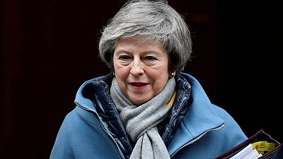 May talks Brexit with trade unions, business group