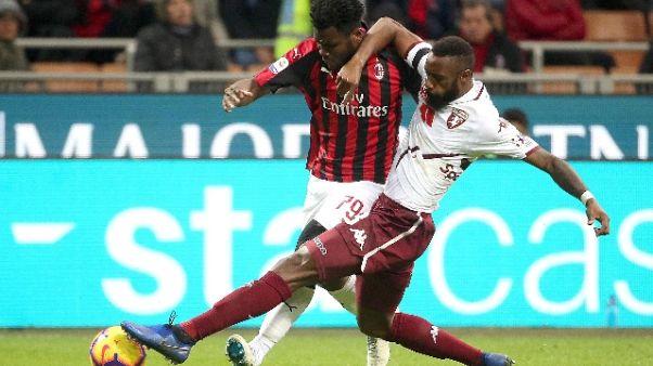Torino: N'Koulou out per febbre