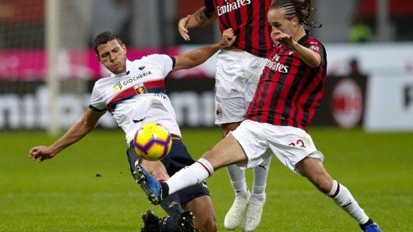 Genoa-Milan anticipata alle 15 del 21/1