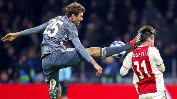 Champions: Bayern, Mueller squalificato