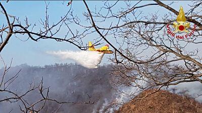 Domato nuovo incendio nel Varesotto