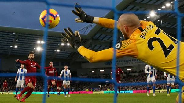 Salah penalty keeps Liverpool in driving seat