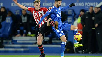 Ten-man Southampton out of drop zone with Leicester win