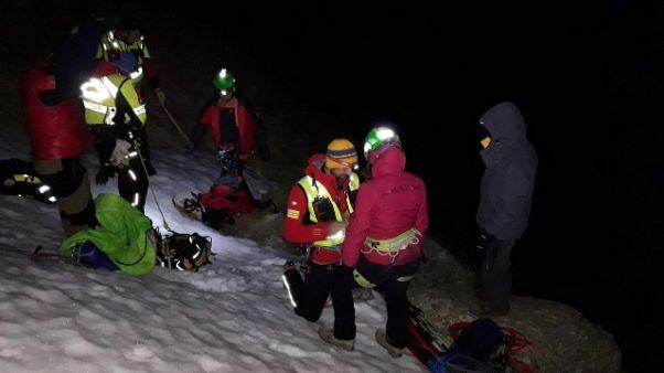 Escursionisti salvi nella notte