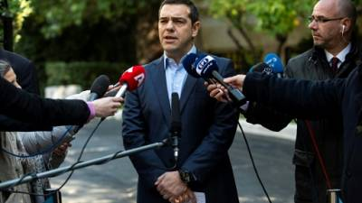 Le Premier ministre grec Alexis Tsipras à Athènes, le 13 janvier 2019.