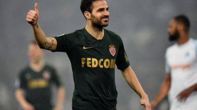 Ligue 1: Fabregas titulaire avec Monaco contre Marseille