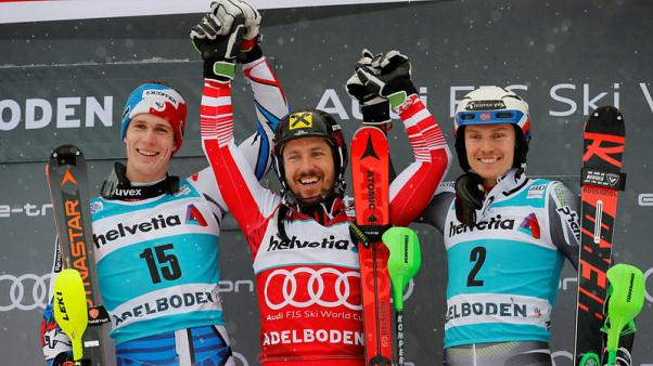 Alpine skiing - Another Hirscher double as records keep tumbling