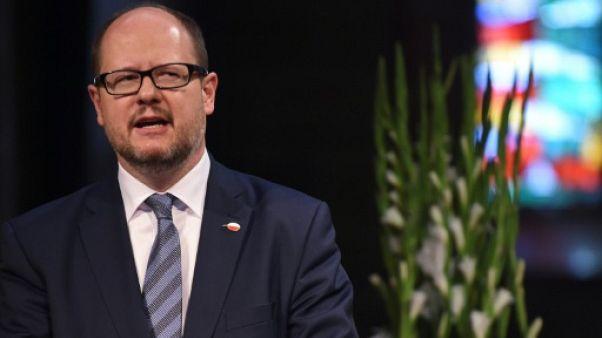 Le maire de Gdansk, Pawel Adamowicz, le 5 mai 2016 à Brême, en Allemagne