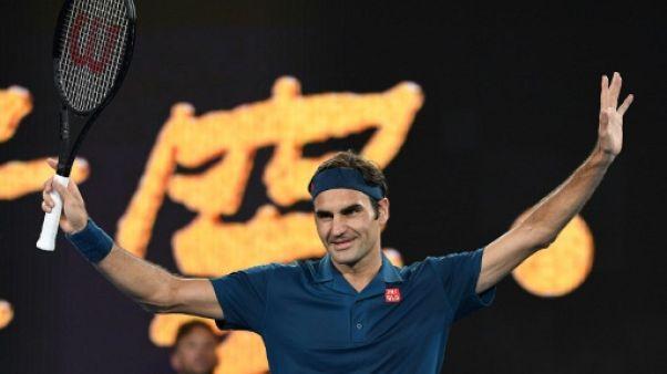 Roger Federer vainqueur de Denis Istomin à Melbourne, le 14 janvier 2019
